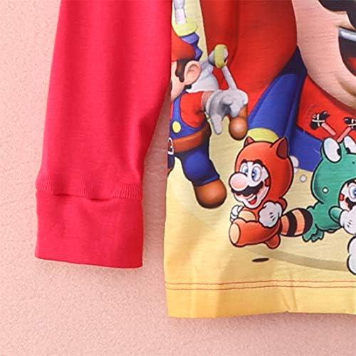 Set di Indumenti da Notte jsadfojas Cartoon Super Mario Ragazzi e Ragazze per Bambine 1-7Y Multicolore 5-6 Anni