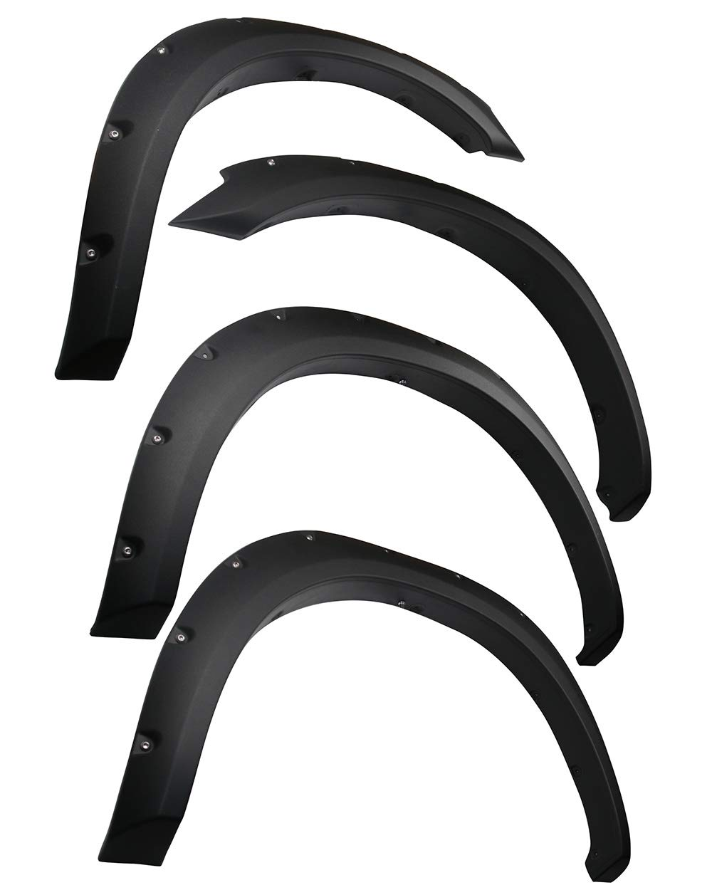 ONLY Fit Fleetside Models with 76.3 /& 98.3 Bed | Paintable Smooth Matte Black Pocket Bolt-Riveted Style Fender Flare Set 4 Piece Tyger Auto TG-FF8D4138 for 2010-2018 Dodge Ram 2500 3500