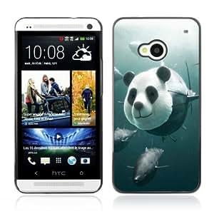 YOYOSHOP [Funny Panda Tuna Illustration] HTC One M7 Case by icecream design