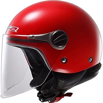 LS2 of575j wuby Casco de Moto para Niños Open Face Jet Casco – Rojo
