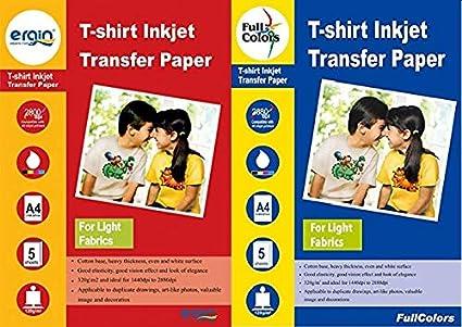 Full Colors 120 GSM T-Shirt Inkjet Transfer Paper Light