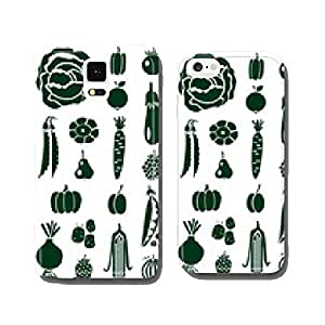 fruit and vegetables icons on white cell phone cover case iPhone6 Plus