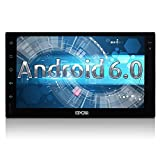 7 inch Android 6.0 Marshmallow Car Stereo with External Microphone - 2 Din in Dash GPS Navigation Bluetooth Radio - Support Phone Mirror, USB, SD, OBD2, 3G, 4G, WIFI, Dual CAM-IN