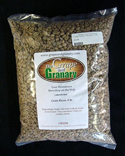 Costa Rican Tarrazu unroasted Coffee Beans (5LB)