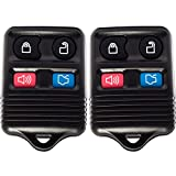 Keyless Entry Remote (Pack of 2) 4 Button Control with Chip and Battery - Alarm, Trunk, Lock and Unlock Key Fob Clicker Transmitter