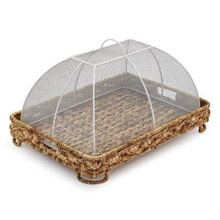 Sur La Table Water Hyacinth Food Dome and Tray