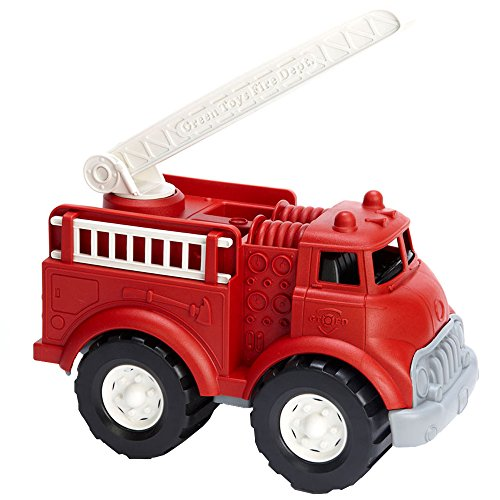 51aqoEVWPPL - Green Toys Fire Truck - BPA Free, Phthalates Free Imaginative Play Toy for Improving Fine Motor, Gross Motor Skills. Toys for Kids