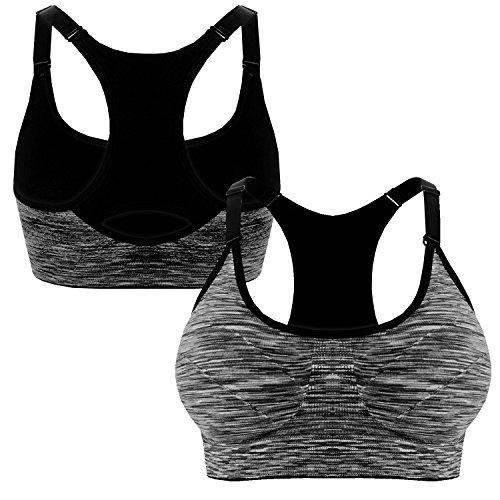 Sportivo 3714 Libella Reggiseno Imbottito Reggiseni Sportivi Push Yoga Running Fitness senza Nero Sporttop Up ferretto YOYwq0r