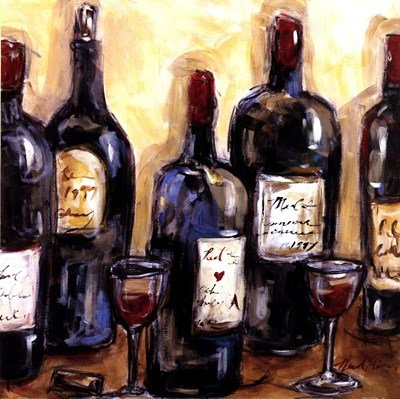Wine Bar by Nicole Etienne - 12x12 Inches - Art Print Poster