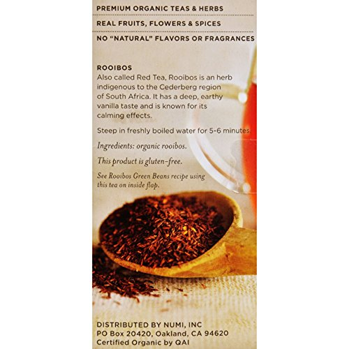 Numi Tea Organic Rooibos - Caffeine Free - 18 Bags - 95%+ Organic - 100% Real Ingredients by Numi (Image #1)