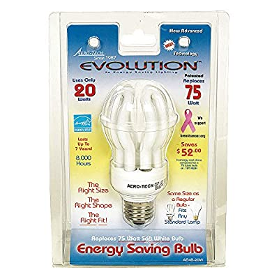 Aero-Tech Energy Saving Evolution Bulb with Medium Base, Warm White