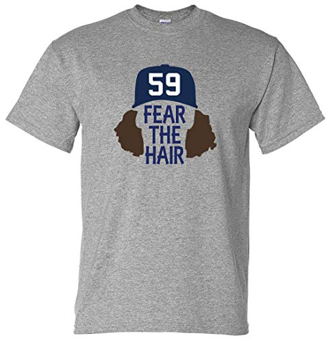 Grey San Diego Paddack Fear The Hair T-Shirt Adult