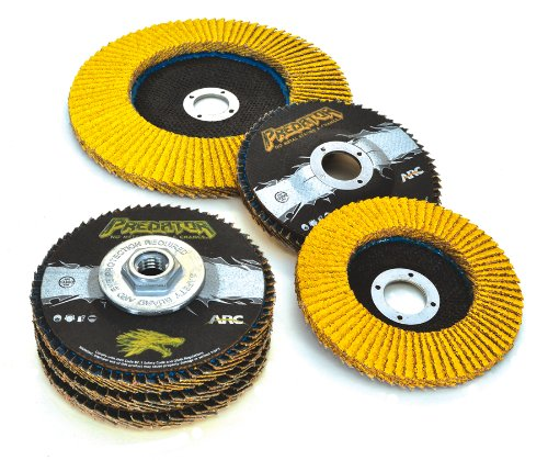 Arc Abrasives 71-10813FF Predator Type 27 Flap Discs, 36-Grit, 4-1/2-Inch by 5/8-11-Inch,10-Pack