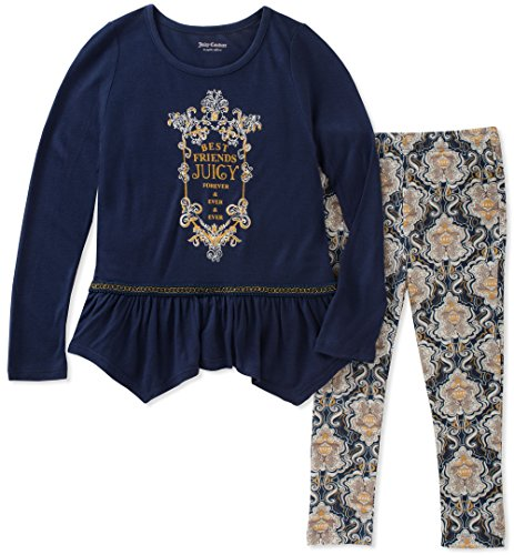 Juicy Couture Girls' Legging Set, Medieval Blue/Print 24M ()