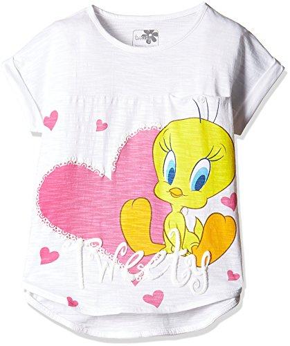 Tweety Girls' T-Shirt (TW0EGT240_White_7 - 8 years)