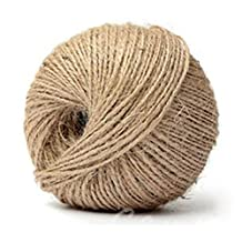 Jute Twine - SODIAL(R) 80M 3Ply Hessian Rustic Burlap Twisted Jute Twine String Hanging Wedding Decor