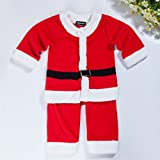 Adoy Kids Santa Romper Costume With Hat For Infant and Toddler Christmas Costumes