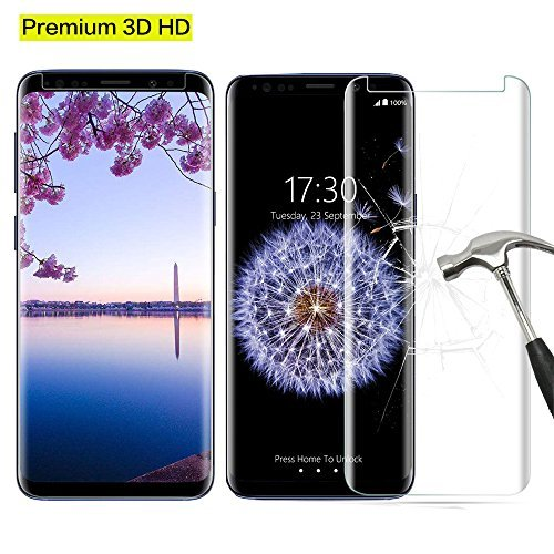 Galaxy S9 Screen Protector, Premium 3D Tempered Glass [Case Friendly] [Scratch Terminator] [Ultra Clear] [9H Hardness] Film for Samsung Galaxy S9