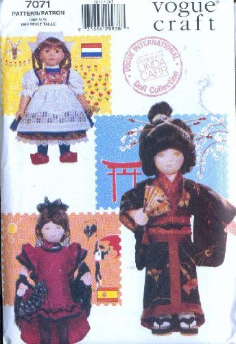 Vogue #7071 - 18-Inch Doll International Costumes - Holland, Spain, Japan (Also Sold As Vogue (Spain International Costume)