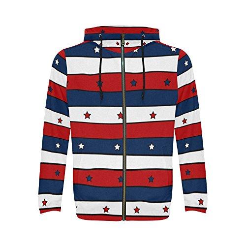 Full Zip Print Sweatshirt - 5