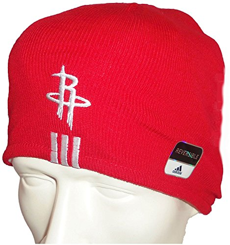 Houston Rockets NBA Licensed Adidas Inner Fleece Reversible Knit Beanie (Nba Reversible Fleece)