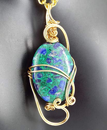 Azurite/Malachite Craft Wire Pendant