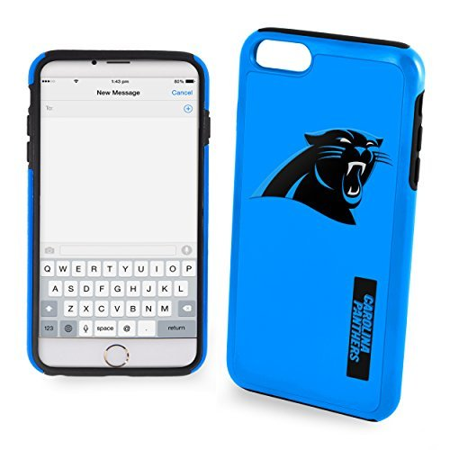 Forever Collectibles - Licensed NFL Cell Phone Case for Apple iPhone 6/6s - Retail Packaging - Carolina Panthers