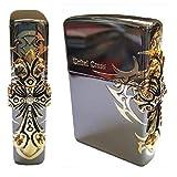 Zippo Side Tribal Cross BI Lighter BI Genuine Authentic Original Packing 6 Flints Set