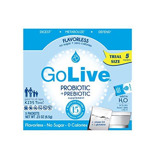 Cultures Yogurt Probiotic - GoLive Probiotic & Prebiotic Blend, Flavorless, 5Count