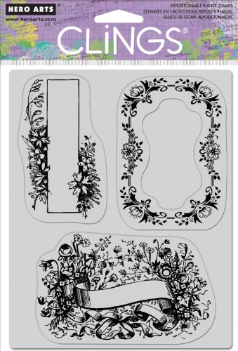 Hero Arts Cling Set, Floral Frames by Hero Arts, Inc.