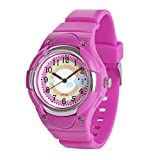 Wolfteeth Watches for Girls Analog Multi Color Round Dial Plastic Band Kids Watch Waterproof 3090