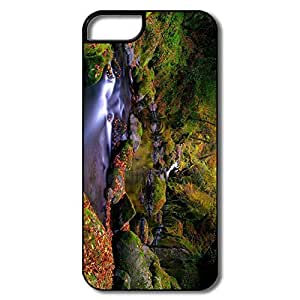 Custom Cases Funny Forest Creek Autumn For IPhone 5/5s
