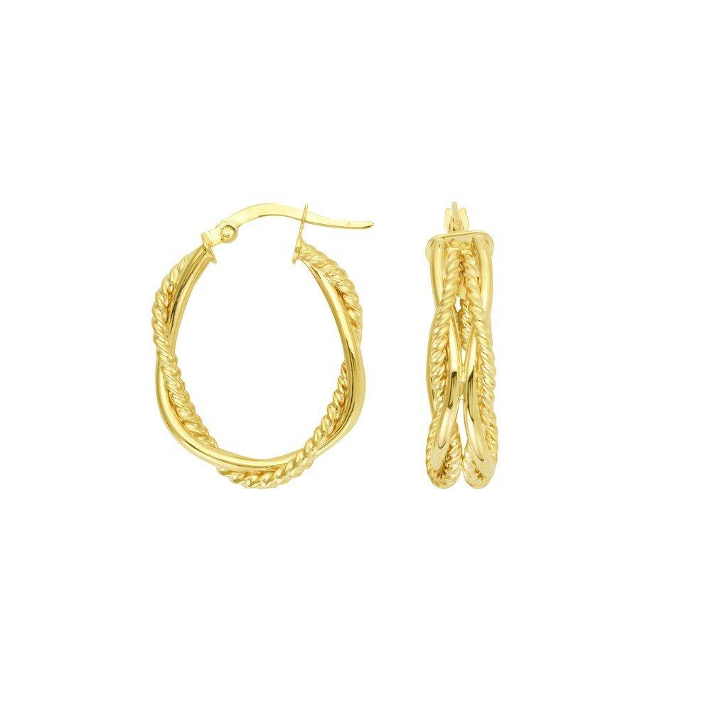 c15a37363337 Ovalados Amarillo Oro 14 De Aro Pendientes Quilates m0N8nw