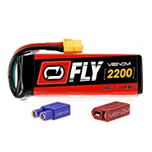 Venom Fly 30C 4S 2200mAh 14.8V LiPo Battery with Universal 2.0 Plug (XT60/Deans/EC3) for RC Airplane and Helicopter