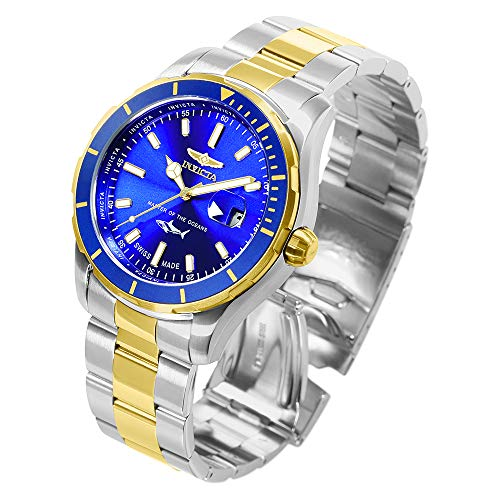 Invicta Men's Pro Diver Quartz Watch with Stainless-Steel Strap, Two Tone, 22 (Model: 25815)