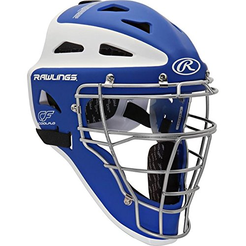 Rawlings Sporting Goods Youth Velo Series Catchers Helmet, Royal/White, 6 1/2-7