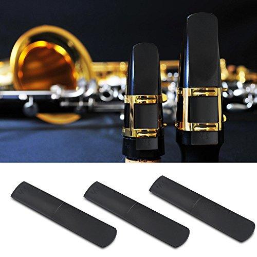 Tbest Cañas Saxofón Alto,3Pcs Cañas para Saxo Alto Boquilla de Alto Sax Saxo Caña Reed de Resina Cañas para Saxo Alto...