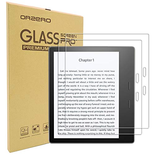 [2 Pack] Orzero for All Oasis E-Reader 2017 7 inch (2017 Release) Tempered Glass Screen Protector, 9 Hardness HD Anti-Scratch Bubble-Free [Lifetime Replacement Warranty]