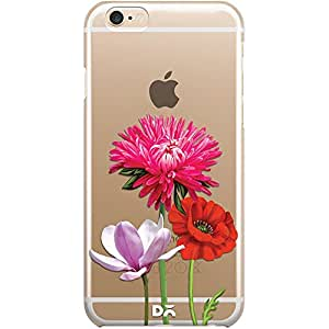 DailyObjects Clear Pink Red & White Flowers Clear Case For iPhone 6