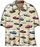 David Carey C6 Corvette Camp Shirt Creme (XXL)