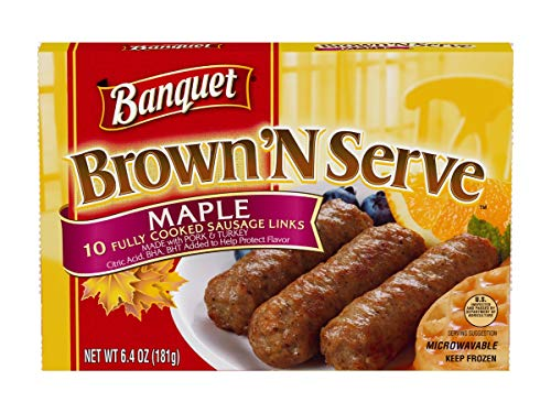 Banquet Brown and Serve Maple Sausage Link, 6.4 Ounce -- 12 per case. (Banquet Breakfast Sausage)