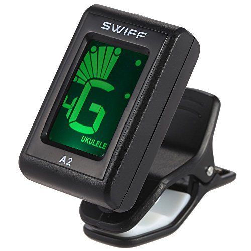 ammoon SWIFF A2 Mini Clip-On Automatic Digital Tone Tuner LCD for Acoustic Electric Guitar Bass Chromatic Violin Ukulele