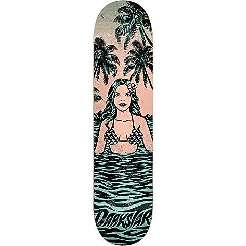 Darkstar Hawaiian Skateboard Deck -8.0 Green/Peach DECK ONLY - Darkstar Skate Decks