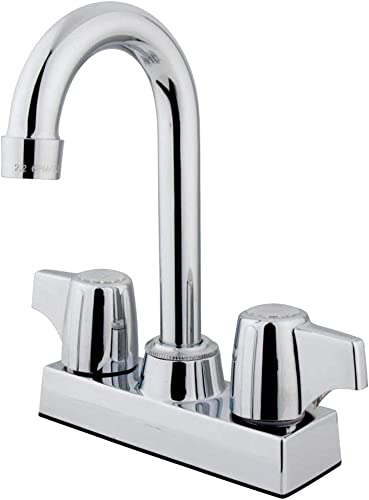 Elements of Design EB460 Franklin 4 Centerset Bar Faucet, 3-1 2 in Spout Reach, Polished Chrome