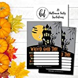 25 Haunted House Halloween Party Invitation Cards