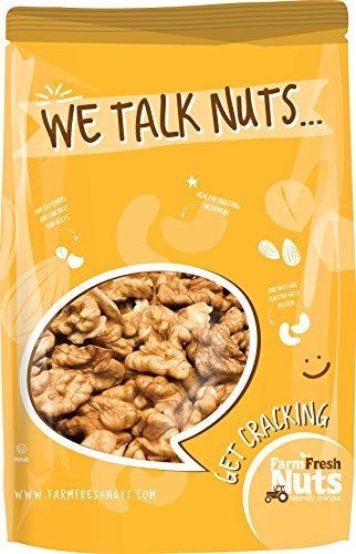 WALNUTS - Dry Roasted - Unsalted - Naturally Delicious - Crunchy - Unbeatable Quality and Freshness - (1 LB) (Walnut Cashew)