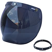 yongluo Capacetes anti-UV anti-arranhões para motocicleta Lente de proteção contra vento com viseira de bolha retrô…