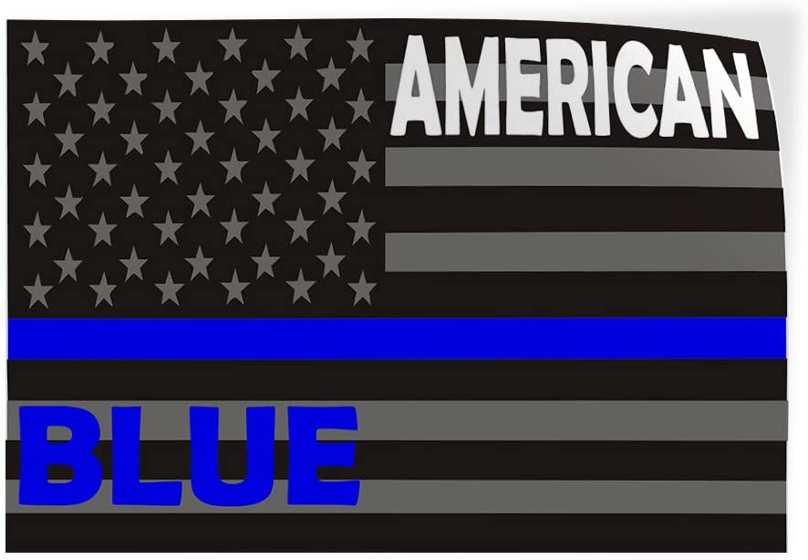 Decal Sticker Multiple Sizes Proud of Our Police Blue White Lifestyle Police Officers Outdoor Store Sign Blue Set of 10 14inx10in