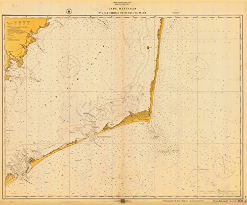 (Historical Nautical Chart 1232-04-1916: NC, Cape Hatteras-Wimble Shoals to Ocracoke Inlet Year 1916)