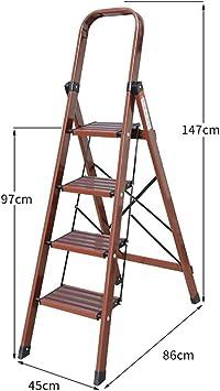 Escaleras Escalera de aluminio Escalera de 4 peldaños, Escalera plegable, Escalera de tijera segura, Escalera telescópica, Escalera de extensión, Oficina multiusos Jardín Loft Escalera de techos, Hoga: Amazon.es: Bricolaje y herramientas